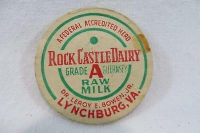 Vintage Milk Bottle Cap Rock Castle Dairy Dr.Leroy E Bowen Jr Lynchburg VA