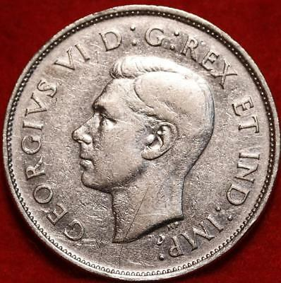 Uncirculated 1940 Canada 50 Cents Silver Foreign Coin Free S/H
