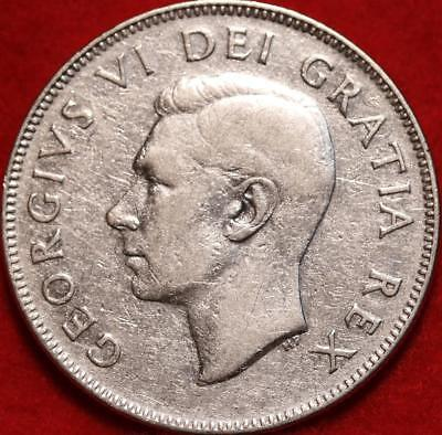Uncirculated 1949 Canada 50 Cents Silver Foreign Coin Free S/H