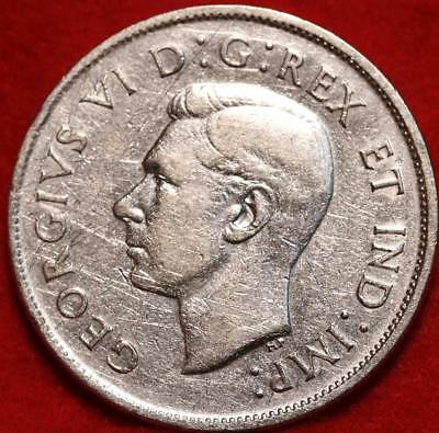 Uncirculated 1943 Canada 50 Cents Silver Foreign Coin Free S/H