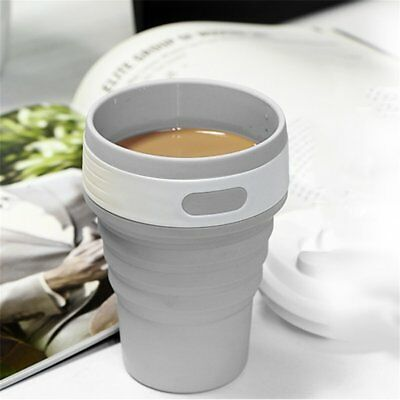 Portable Collapsible Silicone Folding Retractable Mug Cup Outdoor Activities W0#