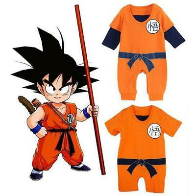 Newborn Baby Boys Dragon Ball Z Romper Goku Costume Short Sleeve HOT - S
