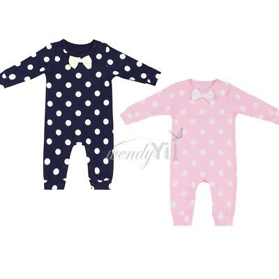 Infant Newborn Baby Boy Girl Warm Jumpsuit Romper Bodysuit Cotton Clothes Outfit