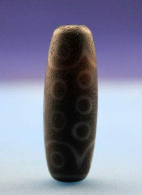 38*13 mm Antique  Dzi  Agate old  21  eyes  Bead  from Tibet ***Free shipping***