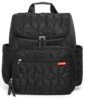 Skip Hop Forma Baby Diaper Bag Backpack w/ Changing Pad Jet Black NEW