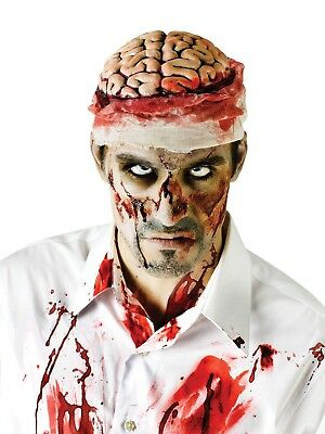 Zombie Bloody Brain Headpiece Hat Costume Accessory Appliance Header Cover