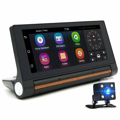 """7"""" 1080P 3G WIFI Rearview Mirror Car DVR GPS Android 5.0 Video Recorder Dashcam"""