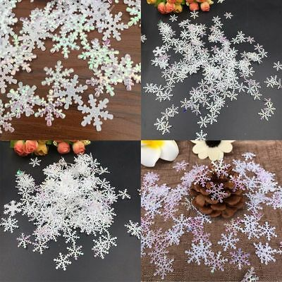 300pcs DIY Classic Snowflake Ornaments Christmas Tress Holiday Party Home Decor