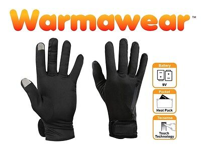 Battery Heated Gloves Thermal Liners Inner Motorcycle Mens Ladies Thin Pocket