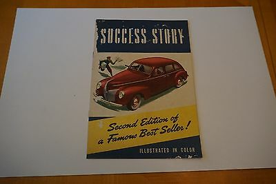 1940 Mercury Eight Automobile Brochure Color Illustrations 12 Pages 7x10 FR/GD