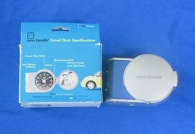 New Beetle Promo Travel Clock Volkswagen Bright Blue  Free Shipping