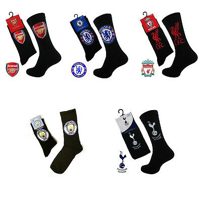 Boys Girls Arsenal Chelsea Liverpool Spurs Manchester Football Team Socks  4-6