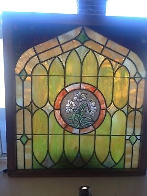 circa 1910 antique stained glass window