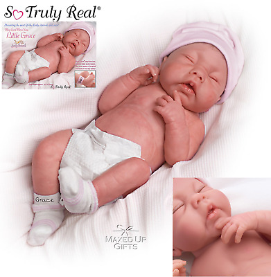 "Ashton Lifelike Doll  ""May God Bless You, Little Grace"" Anatomically correct"