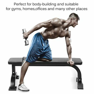 Fitness Flat Weight Bench Press Gym Strength Training Home Workout Exercise WK50