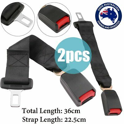 "2x 36cm Universal Car Safety Seat Belt Seatbelt Extension Extender 7/8"" Buckle G"