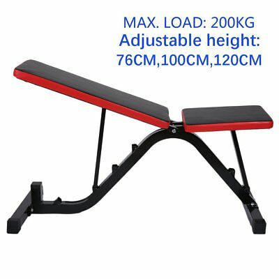 Adjustable Weight Bench Flat Incline Decline Press Gym Ab Exercise Fitness N