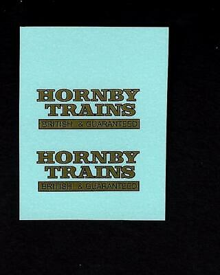 DINKY No 33d MECHANICAL HORSE - HORNBY TRANSFERS / DECALS