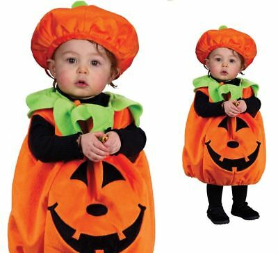 Baby Toddler Plush Pumpkin Cutie Pie Halloween Fancy Dress Costume Outfit Age 2