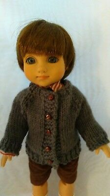 Grey Cardigan Sweater for Michael by MGT Designs