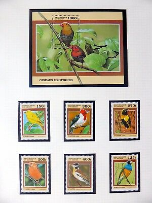 BENIN Birds on 9 Pages U/M NB3546