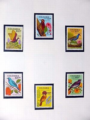 COLOMBIA Birds on 5 Pages U/M NB3548
