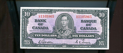 1937 Bank of Canada $10 Gordon Towers BL1619