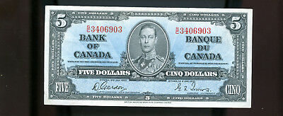 1937 Bank of Canada $5 Gordon Towers BL1620