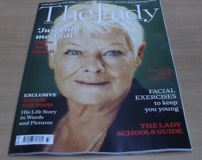 The Lady magazine 15th SEP 2017 Dame Judi Dench + Winnie The Pooh + SchoolsGuide