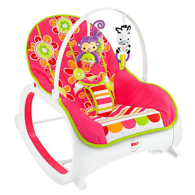 Fisher Price Infant to Toddler Baby Rocker Sleeper Play Pad Seat Vibrating Chair