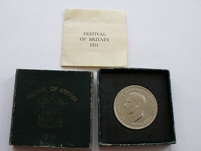 1951 George Vi Crown - Bu - Cased With Certificate Of Authenticity -Uk Post Free