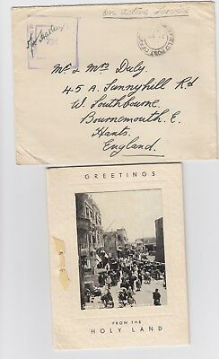 WW2 Greeting from Holyland 1941 Field Post Office 120 Censored Palestine Cover