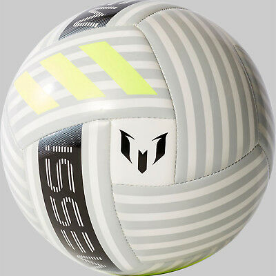 790196606 ADIDAS MESSI GLIDER Soccer Ball - White / Silver / Yellow (NEW) Lists @ $25