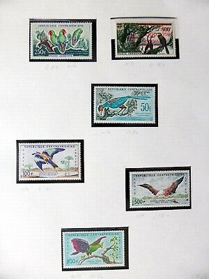 CENTRAL AFRICAN REPUBLIC Birds (6) Mounted Mint NB3595
