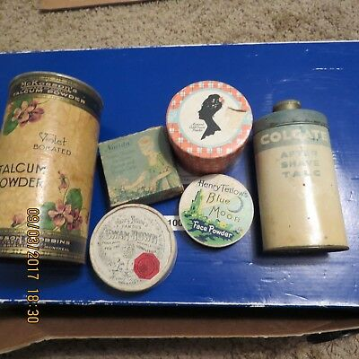 ANTIQUE McKESSON BABY POWDER  TALCUM  VINTAGE /and more