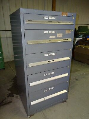 "Vidmar Heavy Duty 5 Drawer Tooling Storage Cabinet 30"" X 28"" X 60"""