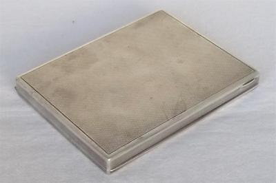 A SOLID SILVER AUSTRIAN CIGARETTE BOX / CASE STAMPED 900 MILITARY INTEREST 172gr