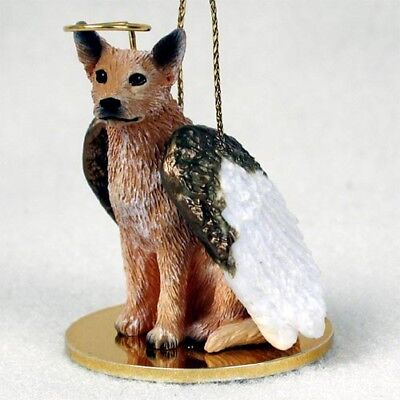 Australian Cattle Dog Red Dog ANGEL Tiny One Ornament Figurine Statue