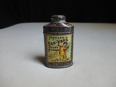 1910 Gerhard Mennen's Borated Toilet Powder Litho Tin Sen-Yang Orient Antique