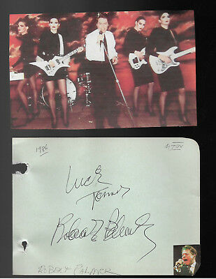 Robert Palmer Vintage Genuine In Person Hand Signed/inscribed Album Page/pict.