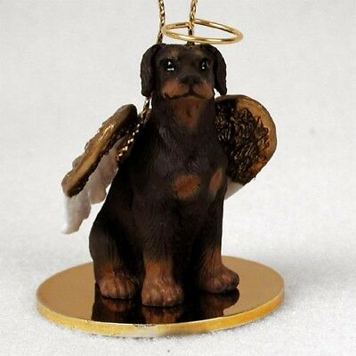 Doberman Pinscher Uncropped Red ANGEL Tiny One Ornament Figurine Statue