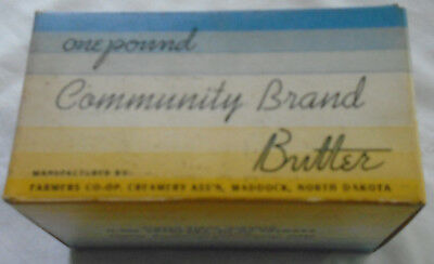One-Pound Community Brand Butter Box Maddock, North Dakota