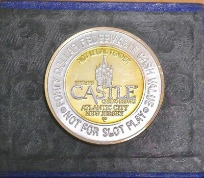 Trump's Casino Resort $40 Dollar Cash Value Gaming Coin Chip Lucy the Elephant