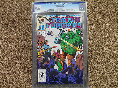 Transformers 14 cgc 9.6 1st appearance Grapple Hoist Smokescreen Tracks Marvel