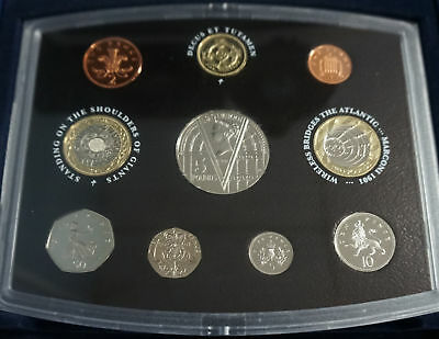 2001 UK Proof Set - 10 Coin Set with Original Government Packaging