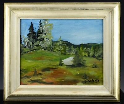 Fine Canadian Impressionist Forest Landscape Oil Painting Signed Robert