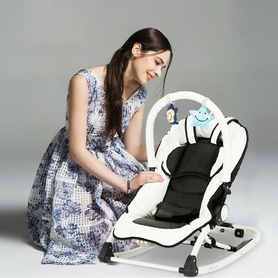 Electric Baby Cradle Baby Rocking Chair 78*40*45cm White+Black