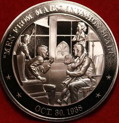 """Uncirculated Franklin Mint .999 Bronze 1oz Round """"Men From Mars""""  Free S/H"""