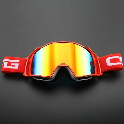 Tinted Lens Motocross Goggles Motorcycle Helmet Glasses Racing Dirt Bike Eyewear