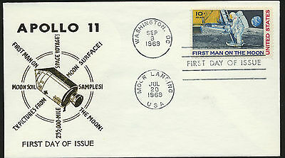 C76 Cachet Unaddressed 1969 Apollo 11 Mission 1st Man on the Moon FDC  lot 1006